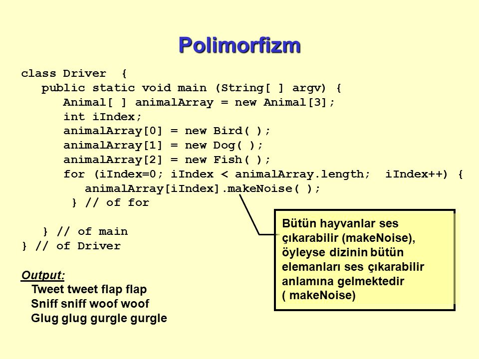 Polimorfizm class Driver { public static void main (String[ ] argv) {
